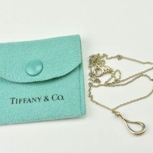 """Tiffany & Co. Silver""""Elsa Peretti"""" Open-teardrop(G"""